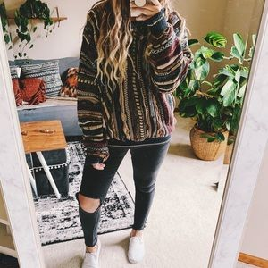Vintage textured oversized colorful gpa sweater p3